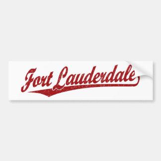 Fort Lauderdale script logo in red Car Bumper Sticker