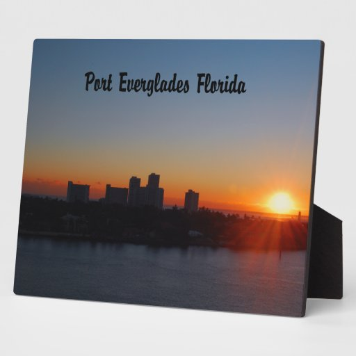 Fort Lauderdale sunrise Display Plaques