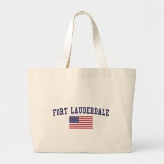 Fort Lauderdale US Flag Large Tote Bag