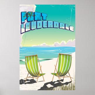 Fort Lauderdale vintage travel poster