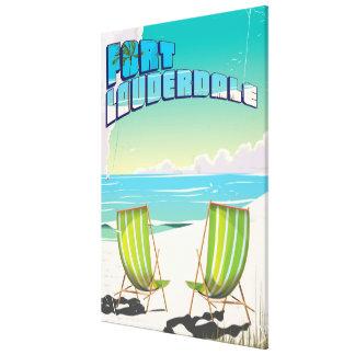 Fort Lauderdale vintage travel poster Canvas Print