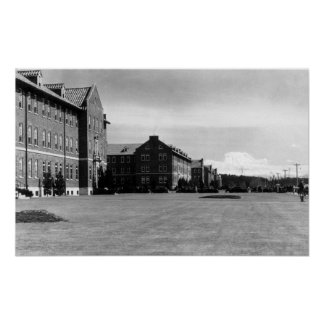 Fort Lewis, opinión de WA de cuarteles y el Monte  Póster