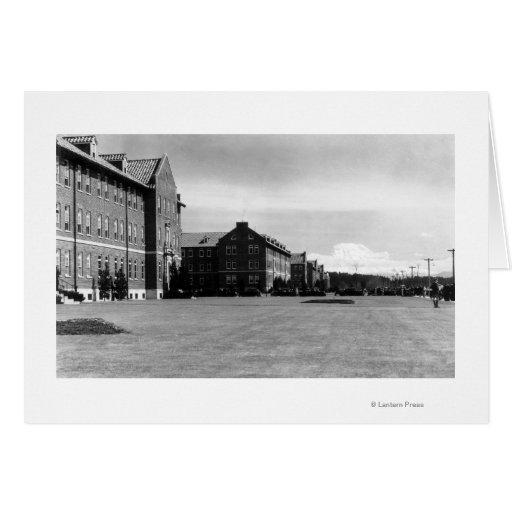 Fort Lewis, opinión de WA de cuarteles y el Monte  Tarjeta De Felicitación