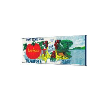 Fort Lewis Tomato LabelRoanoke, VA Canvas Print