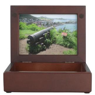 Fort Louis Rampart Cannon Keepsake Boxes