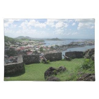 "Fort Louis Rampart Walls ""St. Maarten"" Cloth Placemat"