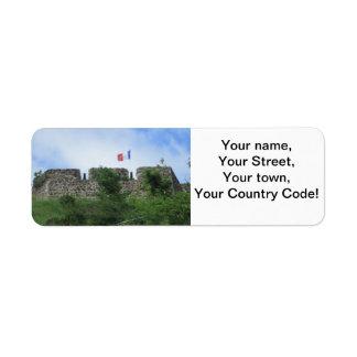 "Fort Louis Ramparts ""St. Maarten"" Custom Return Address Labels"