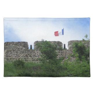 "Fort Louis Ramparts ""St. Maarten"" Cloth Place Mat"