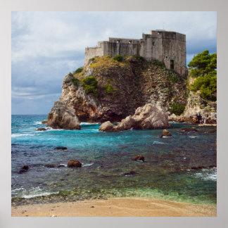 Fort Lovrijenac in Dubrovnik Poster