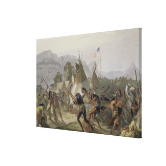 Fort Mackenzie, August 28th 1833, plate 42 from Vo Canvas Print