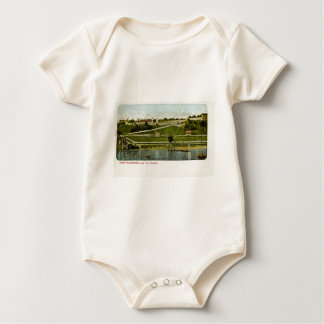 Fort Mackinac from the Harbor Vintage Baby Bodysuit