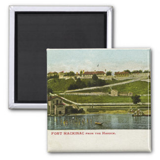 Fort Mackinac from the Harbor Vintage Magnet