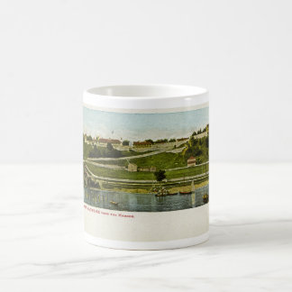 Fort Mackinac from the Harbor Vintage Classic White Coffee Mug