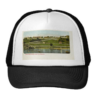 Fort Mackinac from the Harbor Vintage Trucker Hat