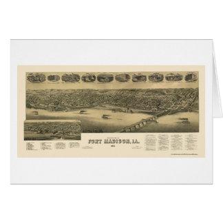 Fort Madison, IA Panoramic Map - 1888 Card