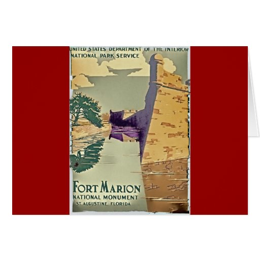 Fort Marion Design Stationery Note Card