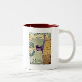 Fort Marion Design Two-Tone Coffee Mug