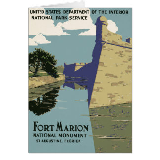 Fort Marion National Monument St Augustine Florida Card