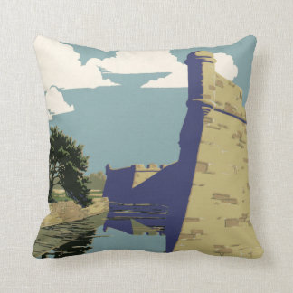 Fort Marion National Monument St Augustine Florida Throw Pillow