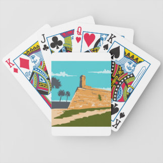 Fort Marion St. Augustine WPA Bicycle Playing Cards