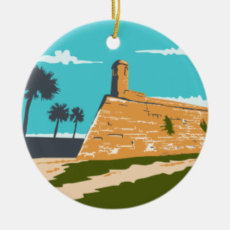 Fort Marion St. Augustine WPA Ceramic Ornament