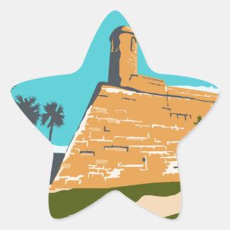 Fort Marion St. Augustine WPA Star Sticker