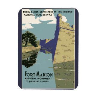 Fort Marion Vintage Travel Poster Magnet