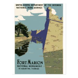 Fort Marion Vintage Travel Poster Postcard