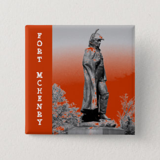 Fort McHenry Statue B+W Pinback Button