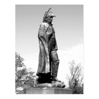 Fort McHenry Statue B+W Postcard