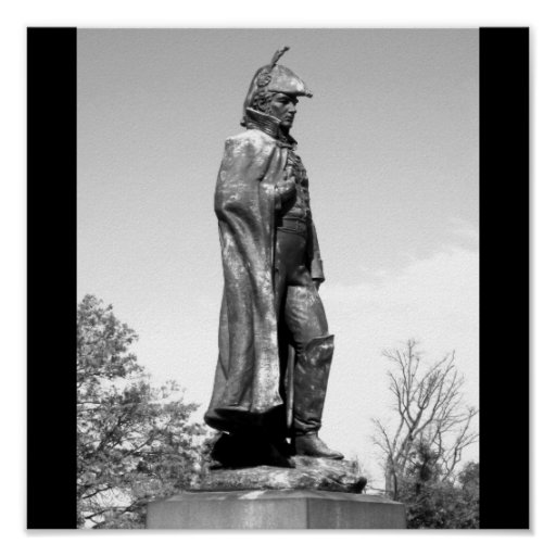 Fort McHenry Statue B+W Poster