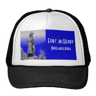 Fort McHenry Statue B+W Trucker Hat