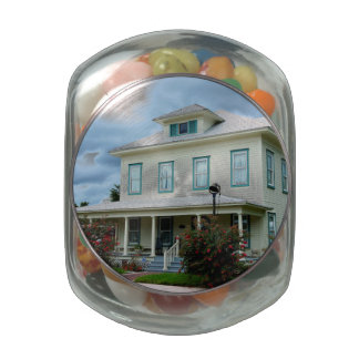 Fort Meade History Glass Candy Jar