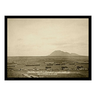 Fort Meade with Bear Butte SD 1888 Poster