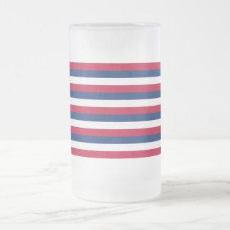 Fort Mifflin Flag Frosted Glass Beer Mug
