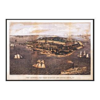 Fort Monroe Virginia (1861) Canvas Print