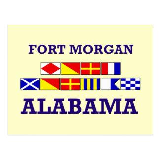 Fort Morgan Flag Postcard
