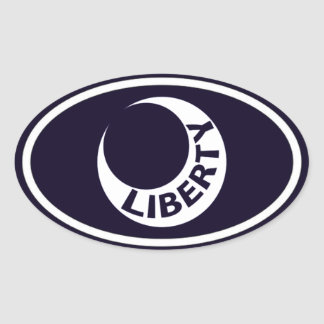 """Fort Moultrie """"Liberty"""" Crescent Oval Sticker"""