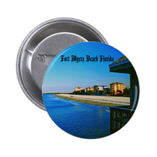 Fort Myers Beach 2 Inch Round Button