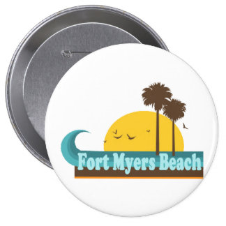 Fort Myers Beach. 4 Inch Round Button
