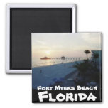 Fort Myers Beach, Florida 2 Inch Square Magnet