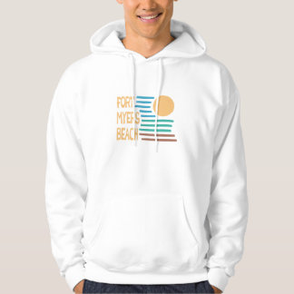 Fort Myers Beach Florida geometric sunset Hoodie