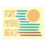 Fort Myers Beach Florida geometric sunset Postcard