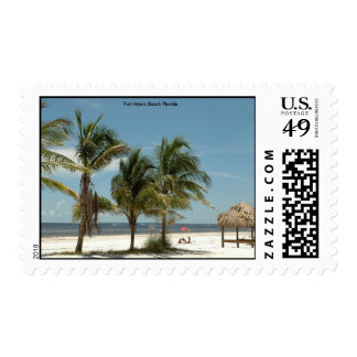 Fort Myers Beach Florida Postage Stamp