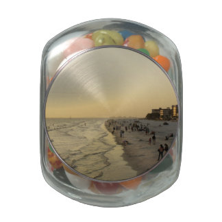 Fort Myers Beach Glass Candy Jar