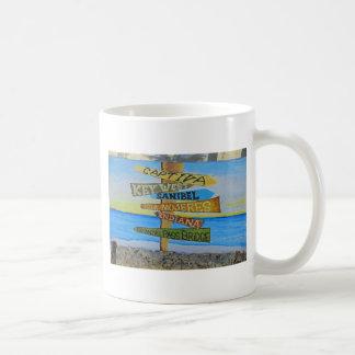 Fort Myers Beach Mural Coffee Mug