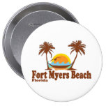 Fort Myers Beach. Pinback Button