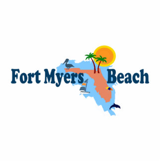 Fort Myers Beach. Standing Photo Sculpture
