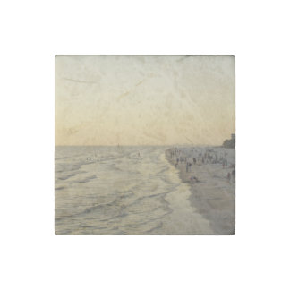 Fort Myers Beach Stone Magnet