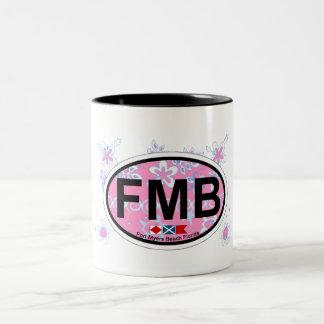 Fort Myers Beach. Two-Tone Coffee Mug